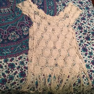Crochet Daisy Top with fringe
